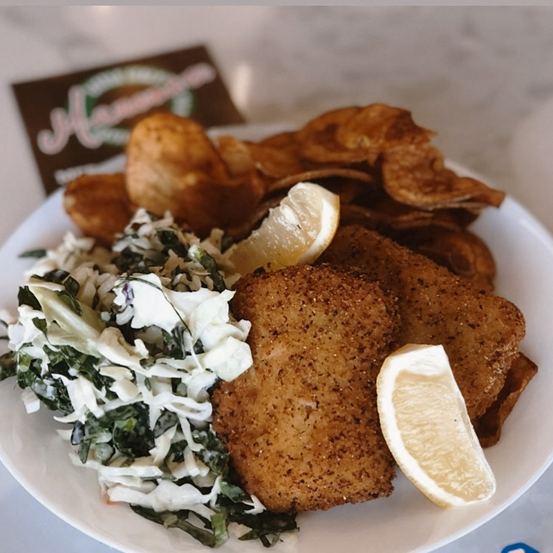 Homepage | Fish & Chips with Tuscan Kale Coleslaw